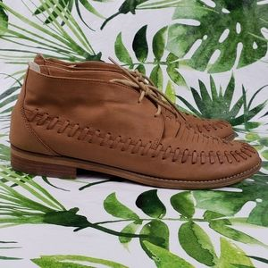 BP woven leather chukka lace up ankle booties 10 M